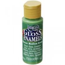 Americana 2 oz. Hauser Medium Green Gloss Enamel Paint - DAG132-30