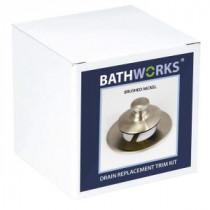BATHWORKS 4 in. x 4 in. x 4 in. Nickel DIY Easy Bathtub Drain and Overflow Trim Kit - DWT-22