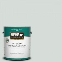 BEHR Premium Plus 1-gal. #PPL-66 Iced Slate Zero VOC Semi-Gloss Enamel Interior Paint - 305001