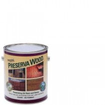 Preserva Wood 1 gal. Oil-Based Clear Penetrating Stain and Sealer - 40101