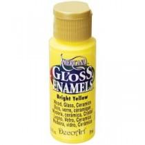 Americana 2 oz. Bright Yellow Gloss Enamel Paint - DAG227-30