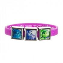 ROXO Disney Inside Out 3 Charm Purple Glitter Band - 6788